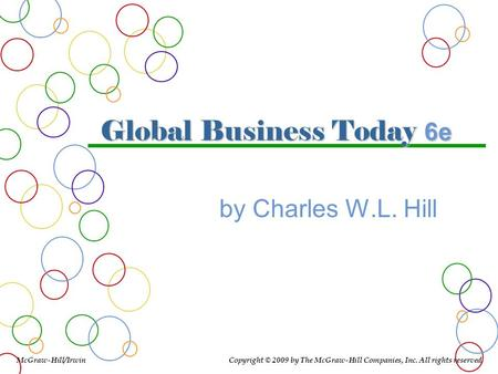 Global Business Today 6e