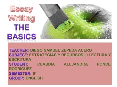 Starting the essayResearching the topic Organizing your idea Writing the essayReferencing the essay.