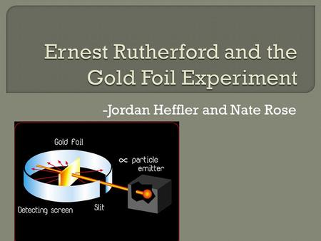 -Jordan Heffler and Nate Rose. Born August 30, 1871 Born in Bridgewater, New Zealand Died October 19, 1937 Worked with Hans Geiger and Ernest Marsden.