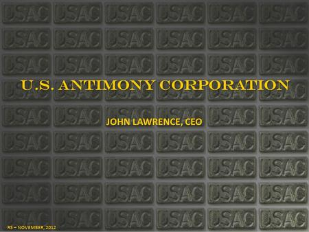 U.S. ANTIMONY CORPORATION