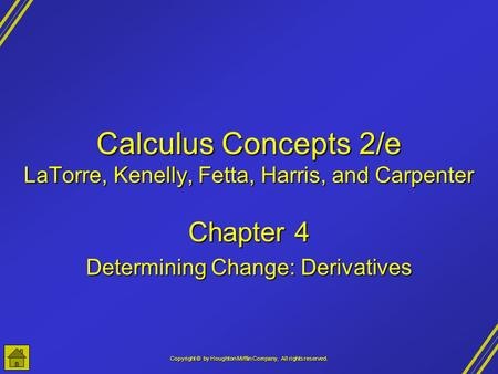 Calculus Concepts 2/e LaTorre, Kenelly, Fetta, Harris, and Carpenter