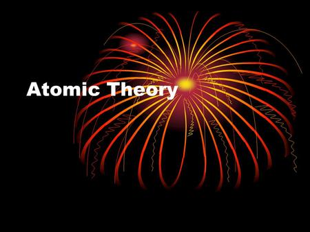 Atomic Theory. John Dalton First to develop a theory on the structure of an atom 1800s Based on 5 major principles.
