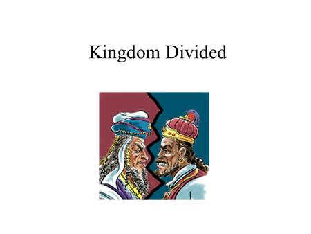 Kingdom Divided. Rehoboam was one of Solomons Servants.
