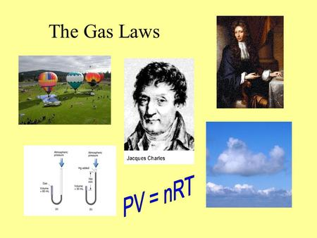 The Gas Laws PV = nRT.