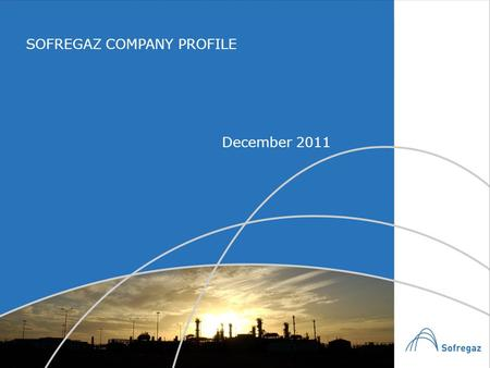 SOFREGAZ COMPANY PROFILE December 2011. GENERAL OVERVIEW A fifty-year experienced Engineering and Contracting Company specialised in natural gas Activities: