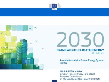 Europe's priorities Our goals Why a 2030 framework now?