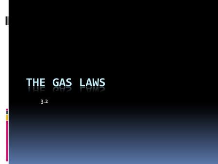 3.2 The Gas Laws.