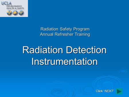 Radiation Safety Program Annual Refresher Training