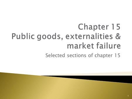 the characteristics of market failure Market failure happens when the price mechanism fails to allocate scarce resources efficiently or when the operation of market forces lead to a net social.