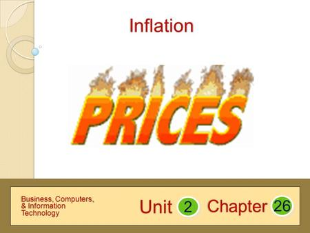 Inflation Chapter 2Unit 26 Business, Computers, & Information Technology.
