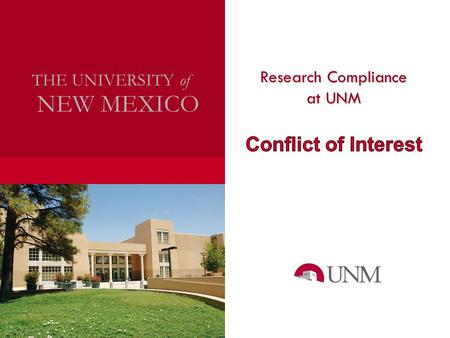 Research Compliance NEW MEXICO THE UNIVERSITY of.
