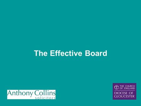 The Effective Board the role key stakeholders legal structure duties decision-making preparing for Board Meetings START FINISH chairing.