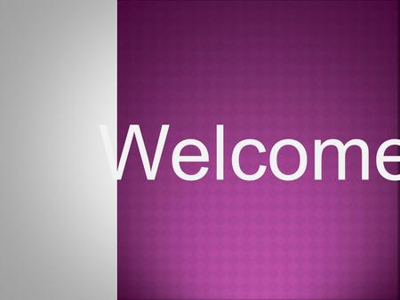 Welcome. -Tow Different Aspects Of Antimicrobial Finish: IntroductionIntroduction.