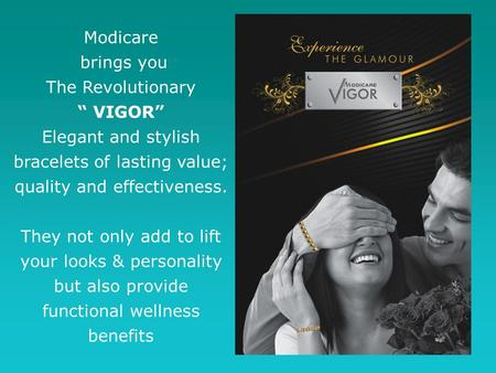 "Modicare brings you The Revolutionary "" VIGOR"""