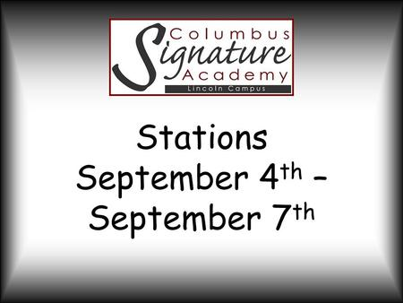 Stations September 4 th – September 7 th. Project Overview Students will design, create, and price a product to be sold at the Farmers Market on September.