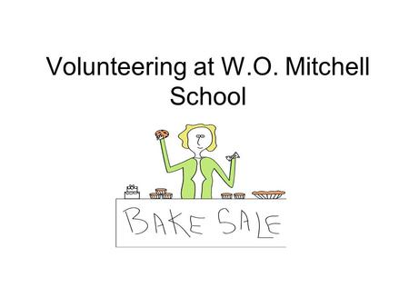 Volunteering at W.O. Mitchell School. Why Should You Volunteer? Research strongly indicates that the single most powerful factor in developing productive.