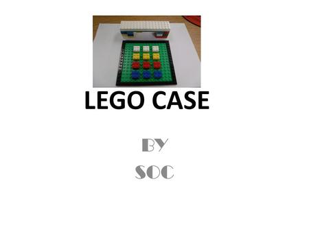 LEGO CASE BY SOC. Phone building Lets build this phone First you will build you base of the phone the (key pad) Next you will build the base for the head.