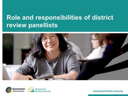 Role and responsibilities of district review panellists.