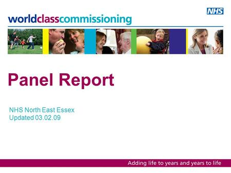 Panel Report NHS North East Essex Updated 03.02.09.