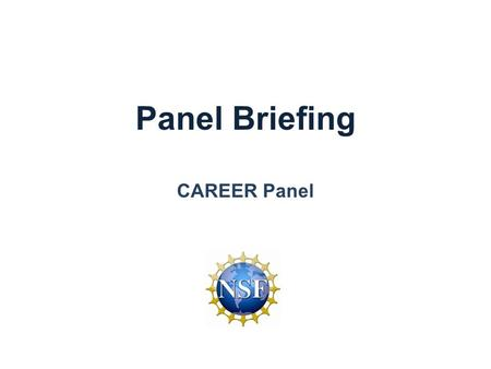 Panel Briefing CAREER Panel. CISE Organization and Core Research Programs CISE Cross-Cutting Programs Cross-Foundation Programs 30% 70% CISE Core Programs.