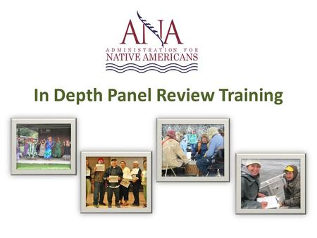 In Depth Panel Review Training. Activity: Mock Panel Review To evaluate the Need for Assistance, reviewers will consider the extent to which the application.
