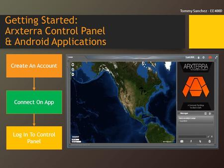 Getting Started: Arxterra Control Panel & Android Applications