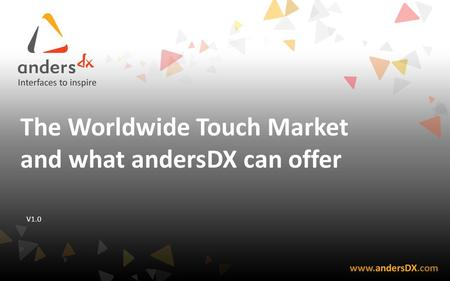 The Worldwide Touch Market and what andersDX can offer