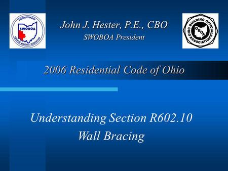 2006 Residential Code of Ohio