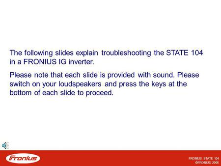 Please note that each slide is provided with sound