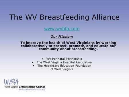 The WV Breastfeeding Alliance