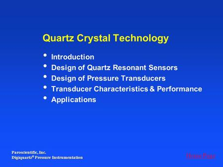 Quartz Crystal Technology