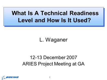 What Is A Technical Readiness Level and How Is It Used?