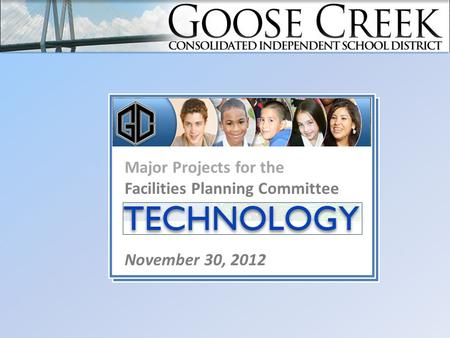 Major Projects for the Facilities Planning Committee Major Projects November 30, 2012.