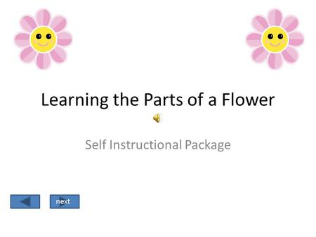 Learning the Parts of a Flower Self Instructional Package next.