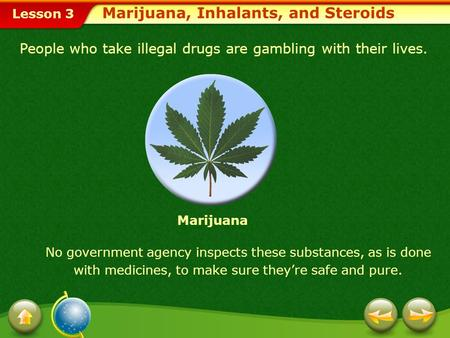 Marijuana, Inhalants, and Steroids