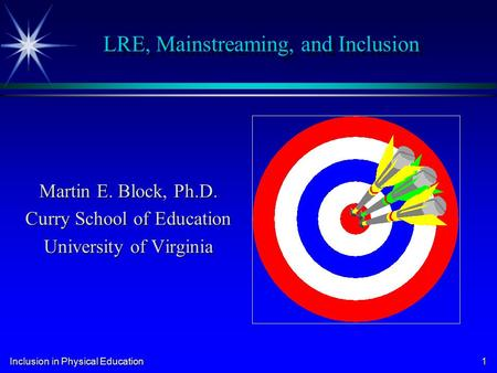 LRE, Mainstreaming, and Inclusion