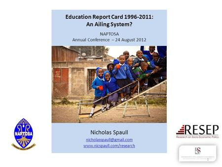 Education Report Card : An Ailing System