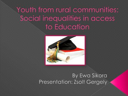 Social inequality Youth Education Educational aspirations Reproduction of social barriers.