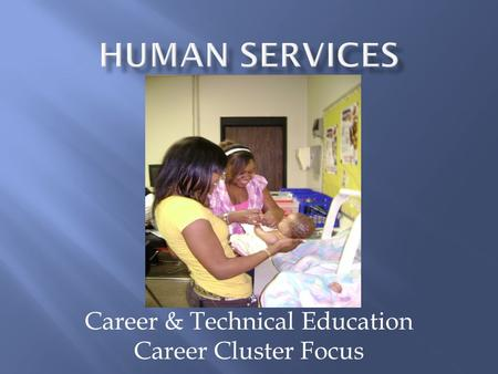 Career & Technical Education Career Cluster Focus.