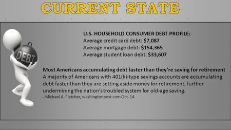 Most Americans accumulating debt faster than theyre saving for retirement A majority of Americans with 401(k)-type savings accounts are accumulating debt.