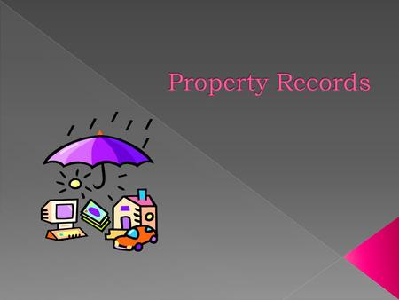 It the responsibility of the executive head of your state agency to maintain the property records of those assets under the control of the agency. This.