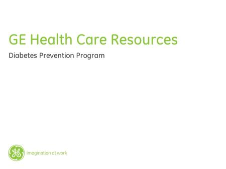 GE Health Care Resources