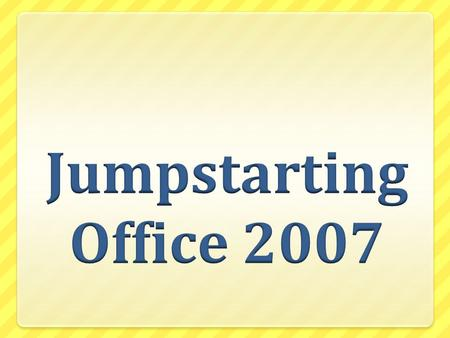 Jumpstarting Office 2007 Licenses What should we do?