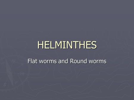 Flat worms and Round worms