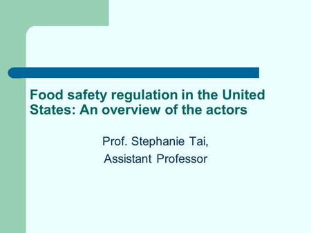 an argument of food safety in the united states A brief history of food safety regulations in the united states posted on september 9, 2016 by mcorley in honor of national food safety month in the united states, indusoft is looking at some of the ways that food safety regulations have improved the quality and safety of food here, and around the world.