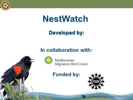 Funded by: NestWatch In collaboration with: Developed by: