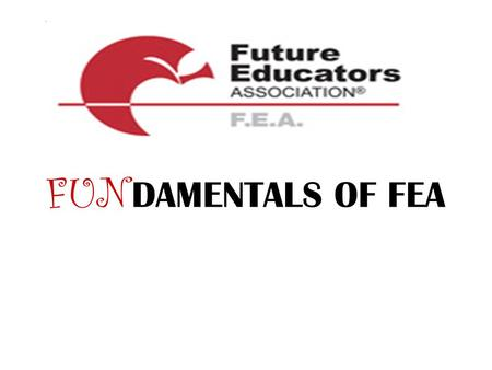 FUN DAMENTALS OF FEA. FEA is focused on exposing students to the rewards, joys, and challenges of careers in education.