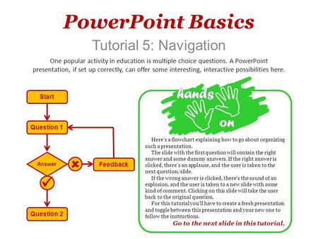 PowerPoint Basics   Tutorial 5: Navigation