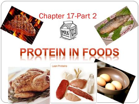 Chapter 17-Part 2 Protein in Foods.