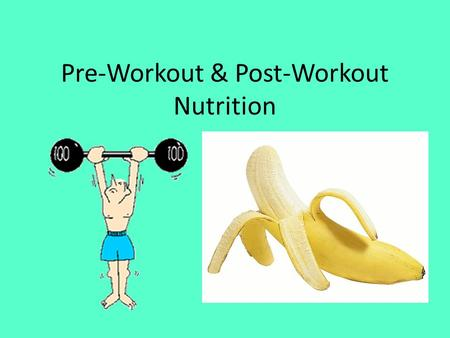 Pre-Workout & Post-Workout Nutrition. Benefits of Pre-Workout Meals Enhanced Performance Increased Energy Nutrition is for maintaining Readily available.